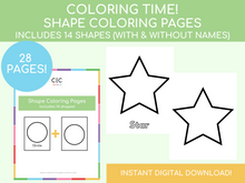 Load image into Gallery viewer, Shapes Coloring Pages
