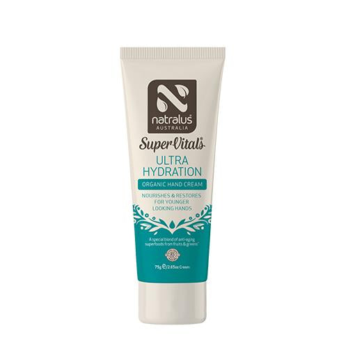 SuperVitals Ultra Hydration Organic Hand Cream 75g