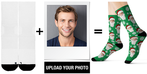 personalised photo christmas socks