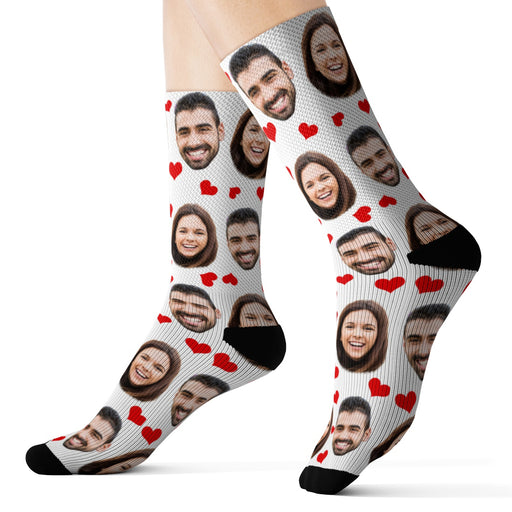Custom Valentine's Day Face Socks
