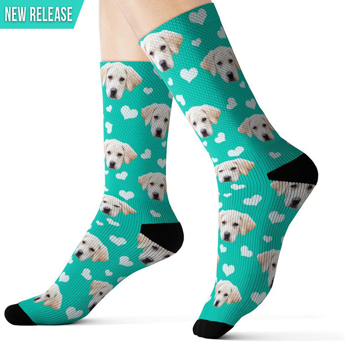 Custom Dog Socks Valentine's Day