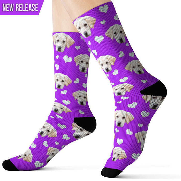Custom Valentine's Day Dog Socks
