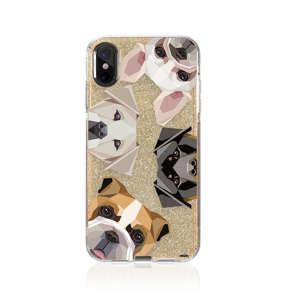 Dogs With Attitude Glitter Hybrid Case