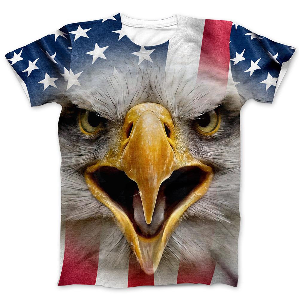 American Flag All Over Printed T-Shirt