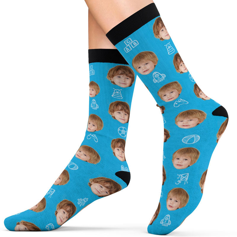 Custom Face Socks - Kids