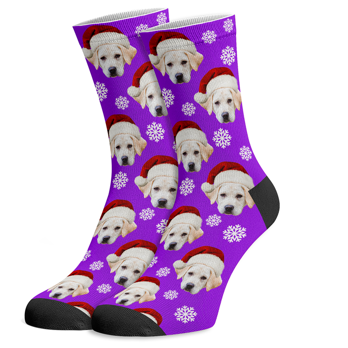 Custom Christmas Dog Socks