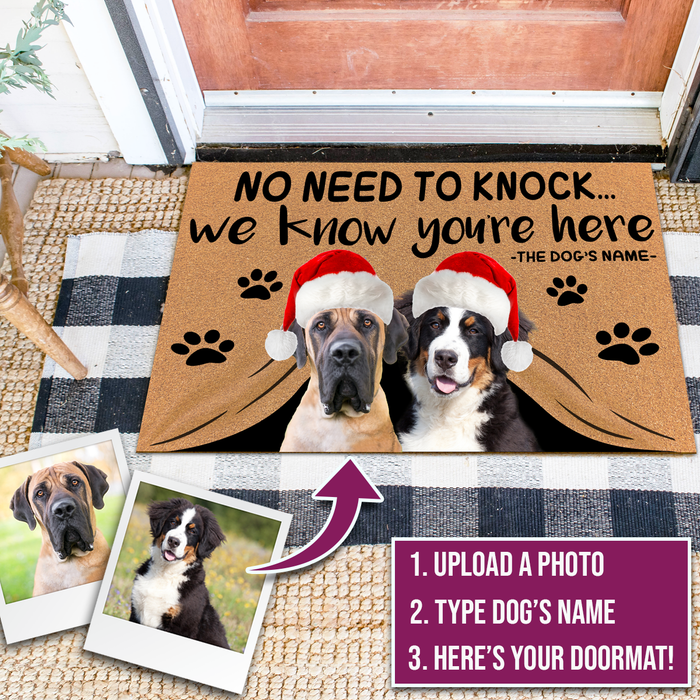 Custom Dog Doormat Christmas Edition