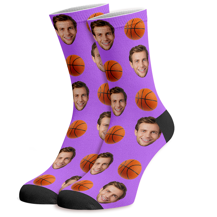 Printed Basketball Socks