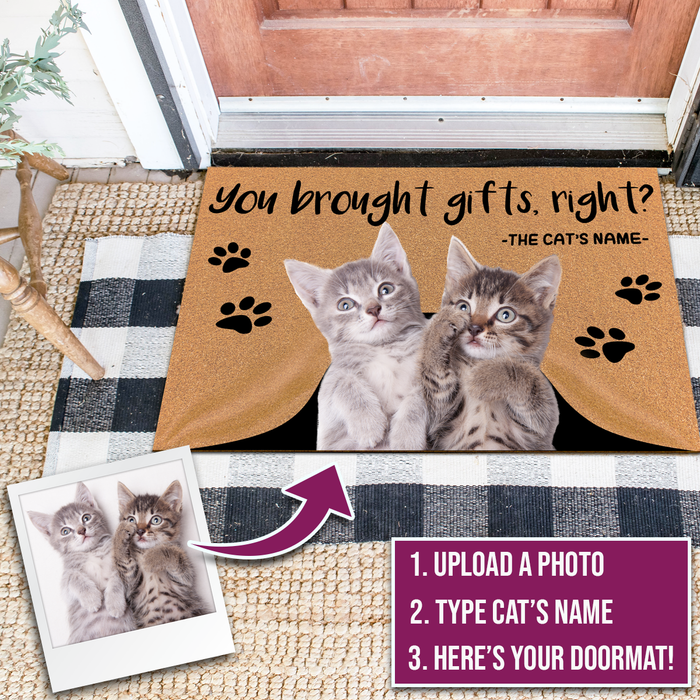 Personalized cat doormats