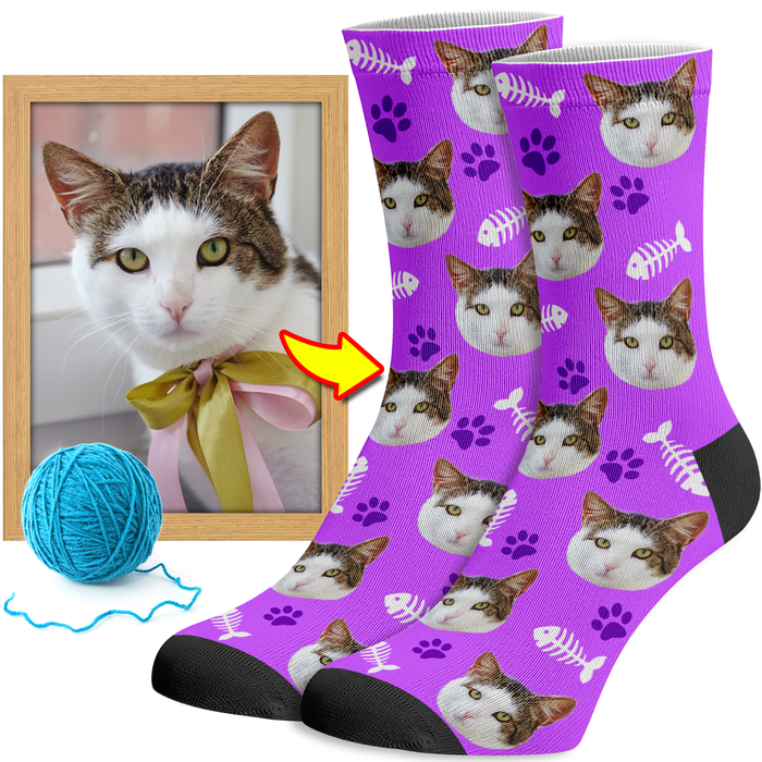 Personalized Cat Socks
