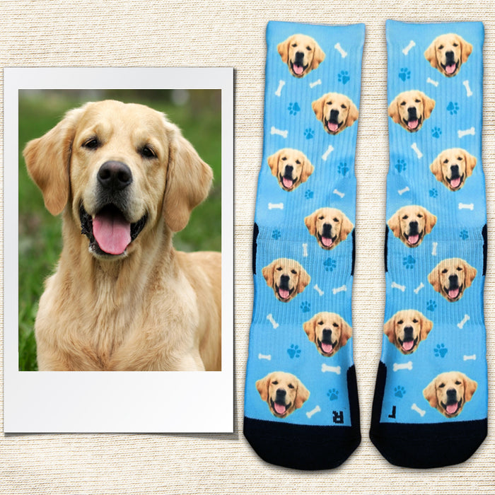 Custom Socks with Dog Picture