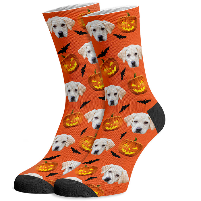 Custom Halloween Socks with Dogs