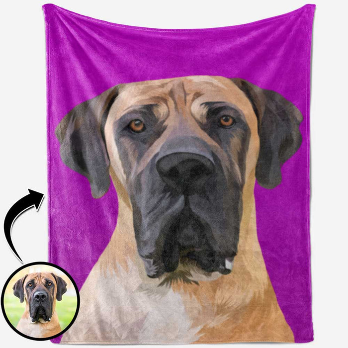 Personalized Pet Portrait Blanket