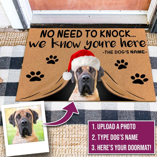 Custom Christmas Dog Doormat