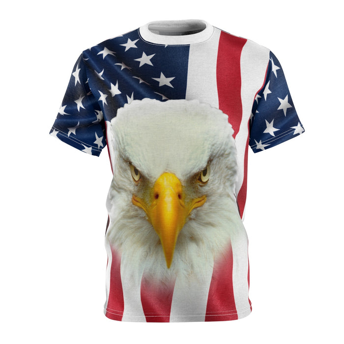 Eagle USA Flag 3D T-Shirt