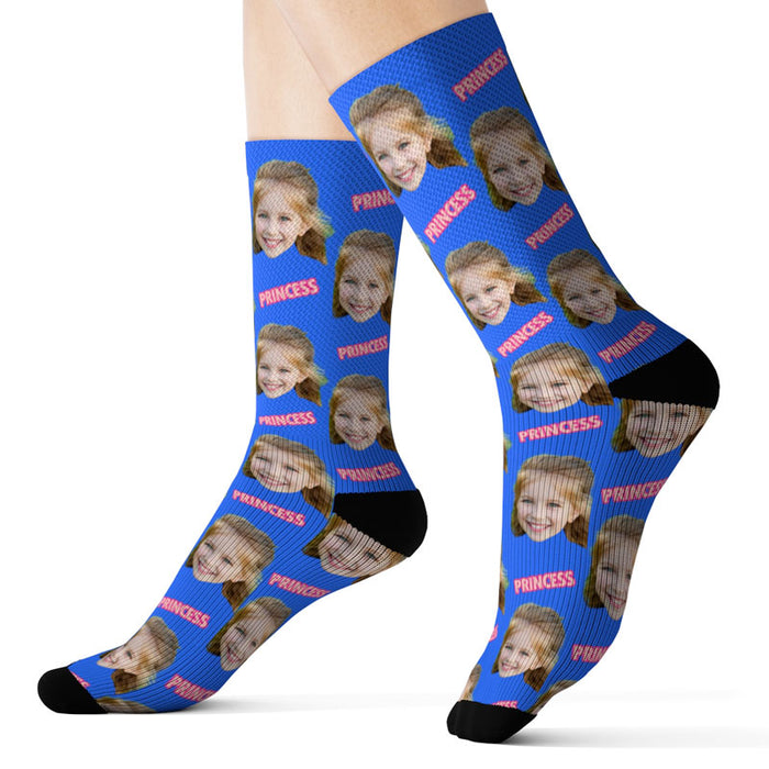 Custom Father's Day Socks - Princess