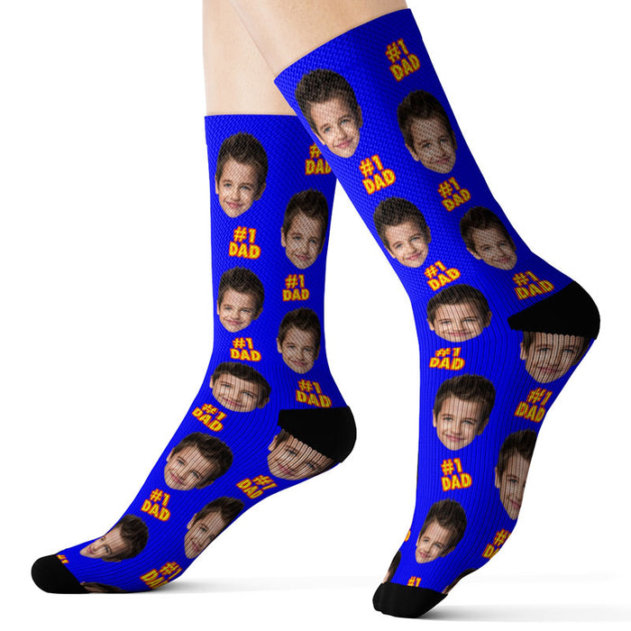 Custom Father's Day Socks – #1 Dad