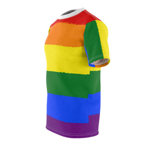 Rainbow Pride Flag All-Over-Print T-Shirt