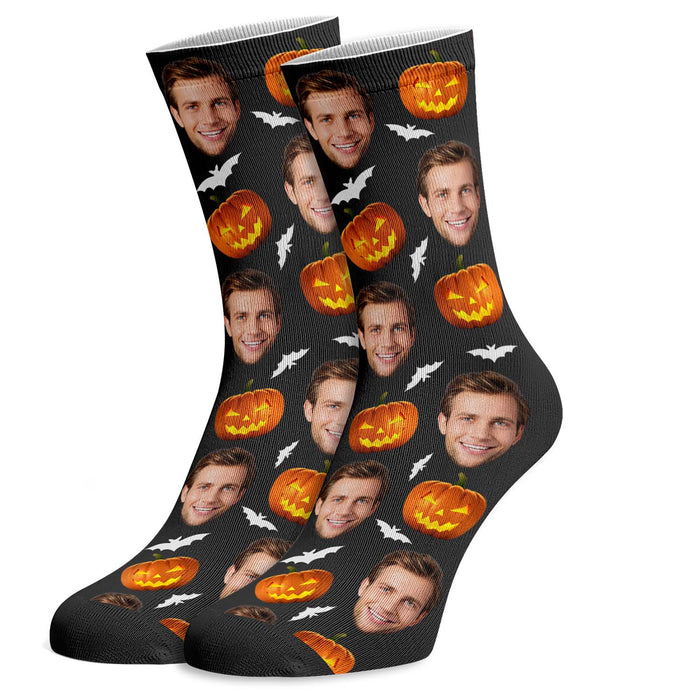 Face Photo Socks Halloween