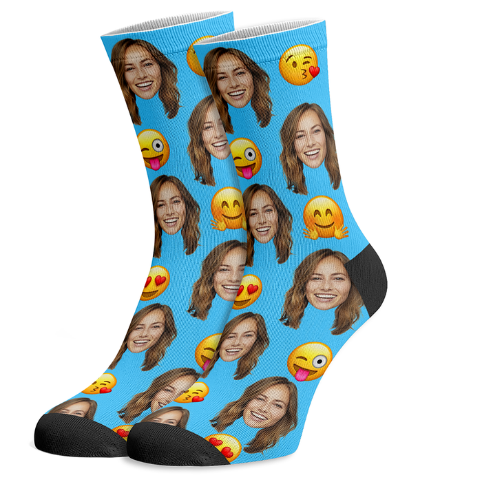 Heart Eye Emoji Photo Socks