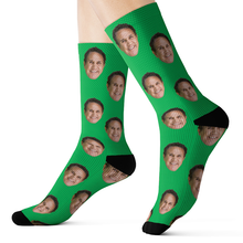 Custom Father's Day Green Socks