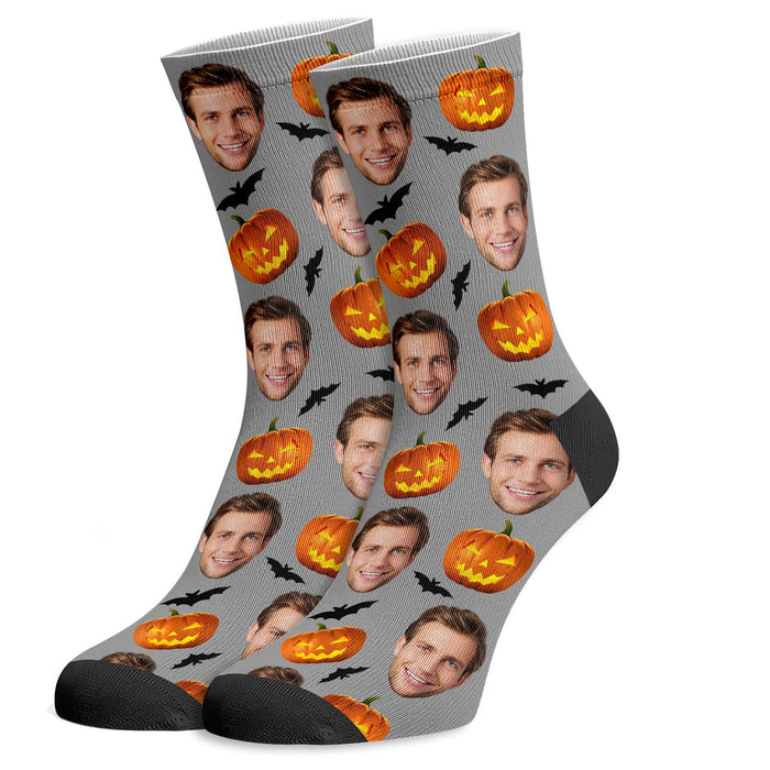 Custom Photo Socks Halloween