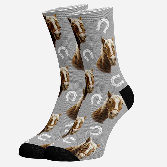 Custom Printed Socks With Your Horse