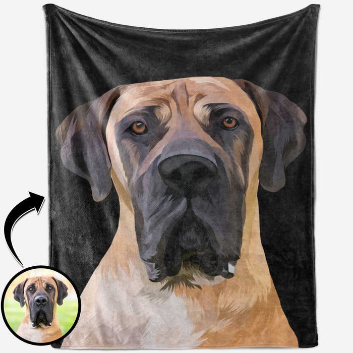 Custom Blanket Pet Portrait