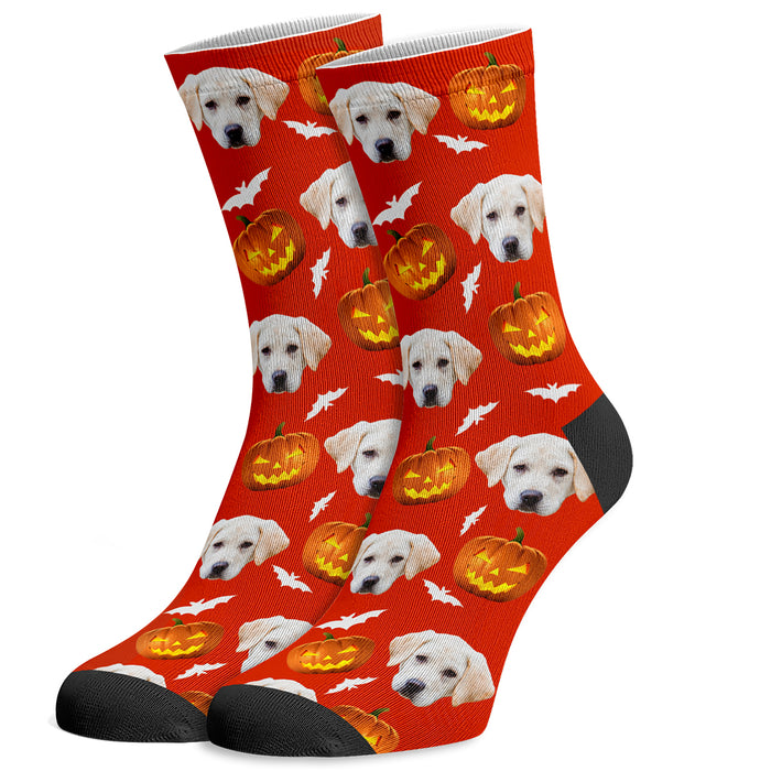 Halloween Personalized Dog Socks