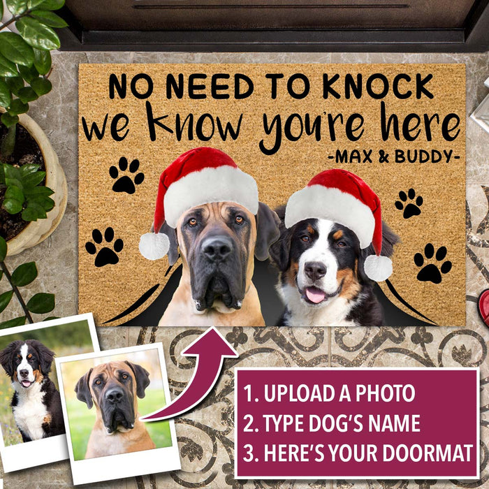 Personalized Christmas Dog Doormat