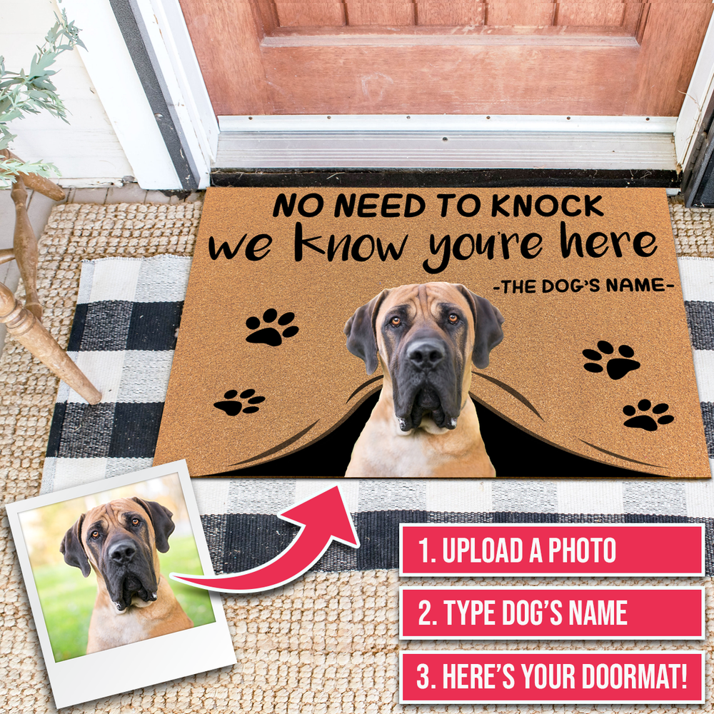 Custom Door Mats With Dogs