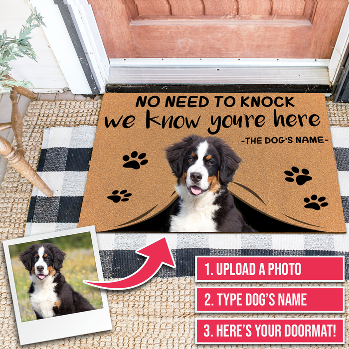Personalized Door Mats With Dog Face