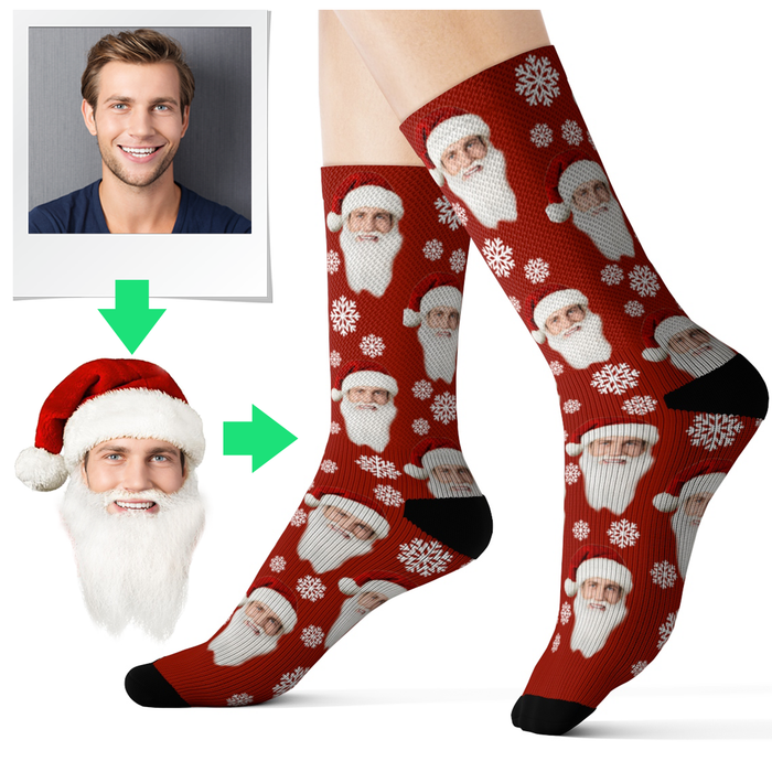 personalised santa socks