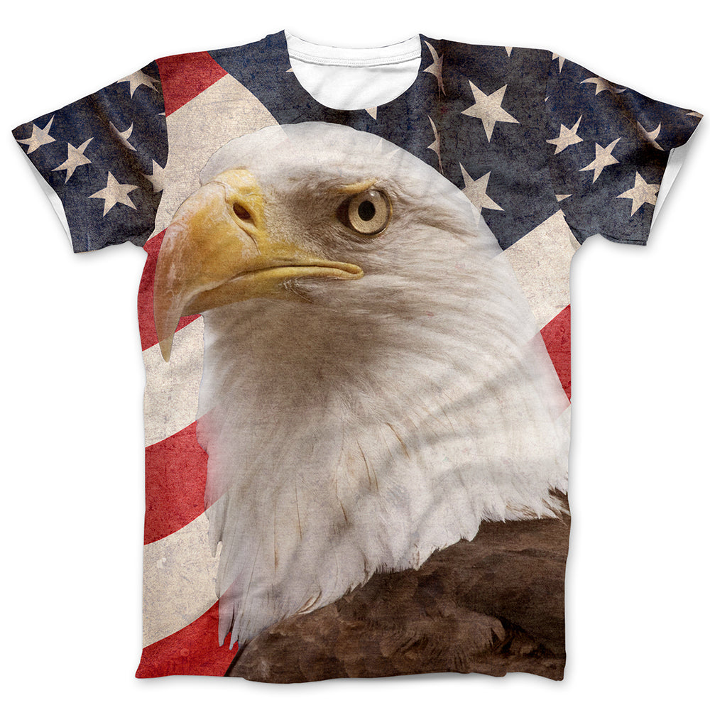 Eagle American Eagle Flag T-Shirt