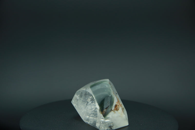 Gemmy Quartz Crystal Milky with Green Chlorite Inclusions from Madagascar Fine Mineral