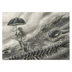 Artwork- Spirit Animals: Romantic Croc Limited Fine Art Print by Martin Hsu