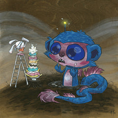 Sea Monkee Snack Original Painting