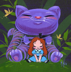 Artwork- Wonderland Cheshire Cat Art Print by Martin Hsu