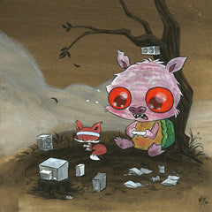 Snappy Pig Xbox Original Painting