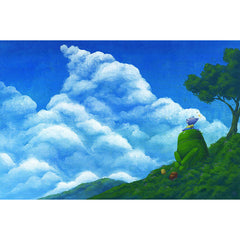 "Original Artwork- Google Android Original Painting ""Android Cloud"""