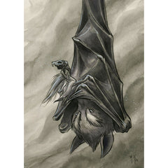Artwork- Spirit Animals: Vigilant Bat Limited Fine Art Print by Martin Hsu