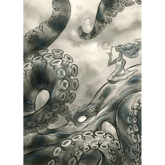 Artwork- Spirit Animals: Mystifying Kraken Limited Fine Art Print by Martin Hsu