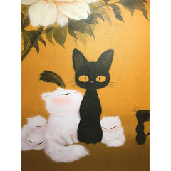 Artwork: Cats and Peony Fine Art Canvas by Martin Hsu