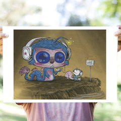 Sea Monkee Headphones Print