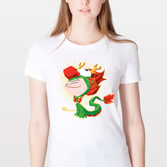 T-shirt- Women's Dragon Boy White