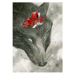 Artwork- Wolf Rider Limited Fine Art Print by Martin Hsu