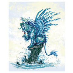 Artwork- Tiger Fish Mermaid Art Print by Martin Hsu