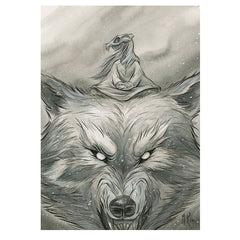 Artwork- Spirit Animals: Winter Wolf Limited Fine Art Print by Martin Hsu