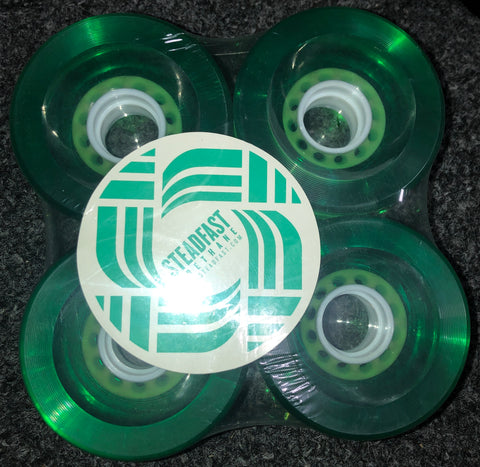 "Steadfast ""Biggies"" Green Wheels"