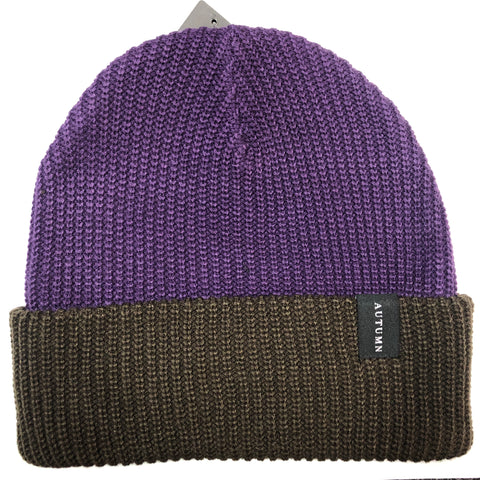 Autumn Select Blocked Beanie - Purple